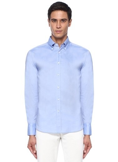 Brunello Cucinelli Gömlek Mavi